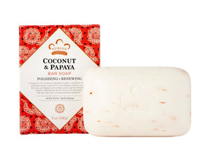 Bar Soap Coconut and Papaya 5 OZ by Nubian Heritage (2587621621845)