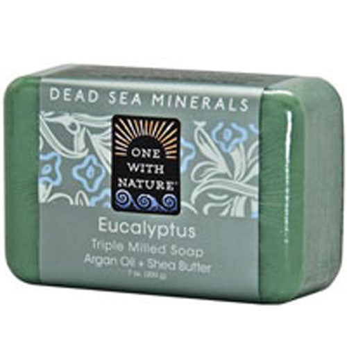 Dead Sea Mineral Bar Soap Eucalyptus 7 OZ by One with Nature