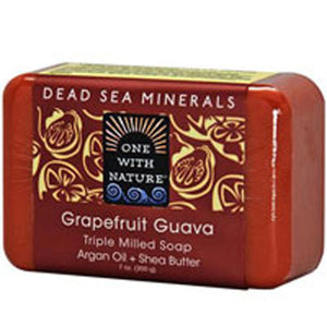 Dead Sea Mineral Bar Soap Grapefruit Guava 7 OZ by One with Nature (2587619557461)