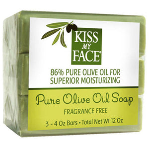 Pure Olive Oil Bar Soap Fragrance Free, 12 Oz by Kiss My Face