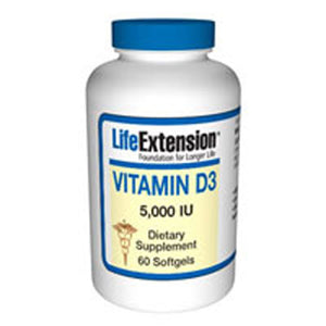 Vitamin D3 60 sgels by Life Extension