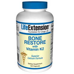 Bone Restore with Vitamin K2 120 Caps by Life Extension (2587618476117)