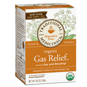 Organic Gas Relief Tea 16 BAGS by Traditional Medicinals Teas (2588122579029)