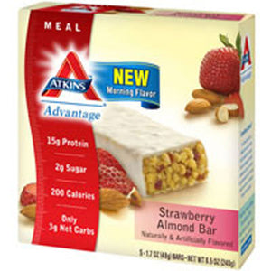 Advantage Bar Strawberry Almond 5/1.7 OZ by Atkins (2588116353109)