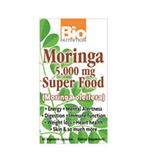 Moringa Super Food 5000 mg 60 VEG CAPS by Bio Nutrition Inc (2587610120277)