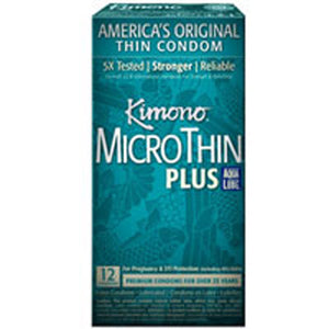 Kimono MicroThin with Aqua Lube 24 ct by Mayer Laboratories