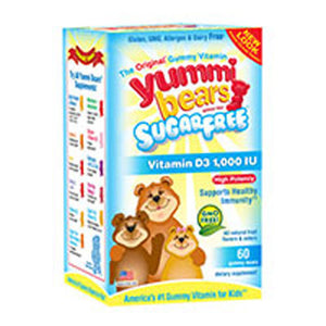 Yummi Bears Sugar Free Vitamin D3 60 gummies by Yummi Bears (Hero Nutritional Products) (2588109865045)
