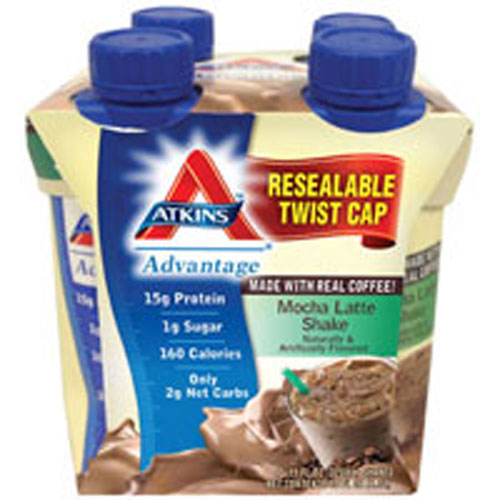 Shake RTD Cafe Mocha 4/11 Oz by Atkins