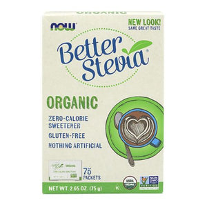 Organic Stevia Packets 75 Packets by Now Foods