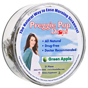 Preggie Drops Natural Green Apple 21 CT by Three Lollies