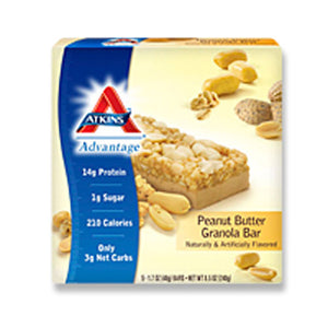 Advantage Bar Peanut Butter Granola Bar 5 pack by Atkins (2587316256853)