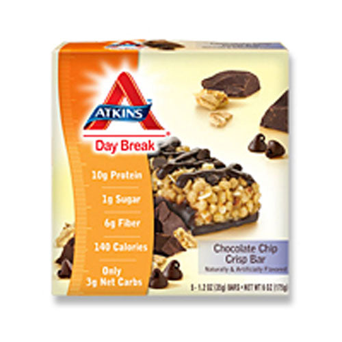 Day Break Bars Chocolate Chip Crisp 5 pack by Atkins