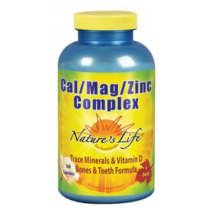 Cal-Mag-Zinc 360 caps by Nature's Life (2587332083797)