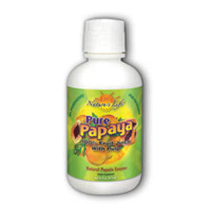 Natural Pure Papaya Juice with Pulp 16 oz by Nature's Life