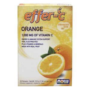 Effer-C Orange Newly Reformulated 30 Pkt/Box by Now Foods
