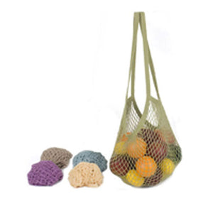 String Tote Bag Long Handle Cotton Assorted Pastels 1 Ct by Eco Bags (2587961720917)