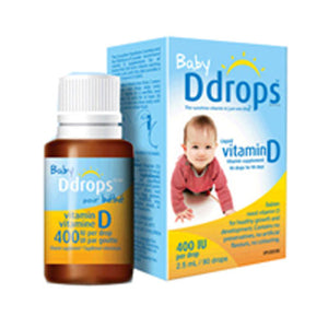 Baby Vitamin D 90 Drops 0.08 oz by Ddrops (2587962277973)