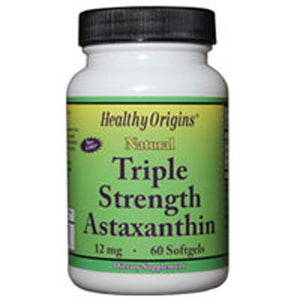 Astaxanthin Triple Strength 60 Soft Gels by Healthy Origins (2587417935957)