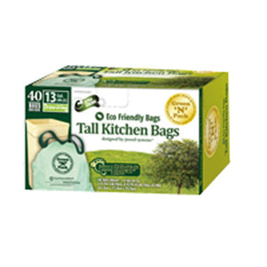 Tall Kitchen Bags Kit 13 Gallons Size 40 ct by Green N Pack (2587418329173)