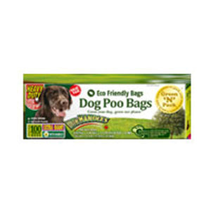Eco Friendly Bags Dog Poo Bags Handle Ties Extra Giant 100 Count by Green N Pack (2587602485333)