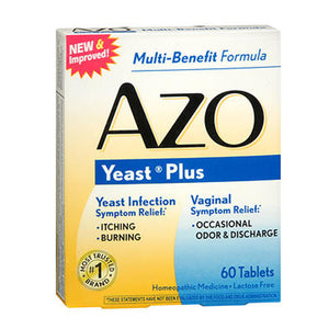 AZO Yeast Plus 60 tabs by Amerifit Nutrition (2588963897429)