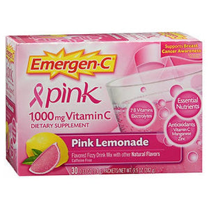 Emergen-C Alacer Vitamin C pink lemonade 30 packets by Alacer (2584224268373)