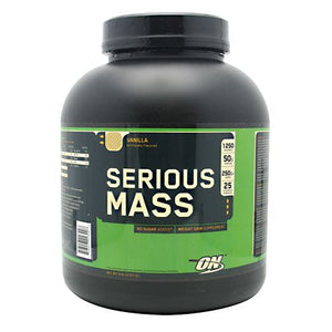 Serious Mass Vanilla 6.0 lb by Optimum Nutrition (2584250548309)
