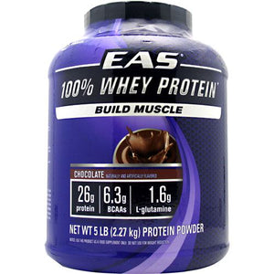 100% Whey Protein Powder Chocolate 5 LB by EAS (2589063512149)