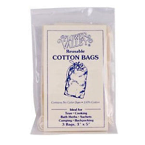Reusable Cotton Teabags 3 Pk by Flower Valley