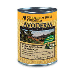 Canned Dog Food Chicken & Rice 13 oz by Avoderm (2587277525077)