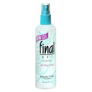 Final Net Hairspray Non-Aerosol Regular Hold Unscented 8 oz by Final Net