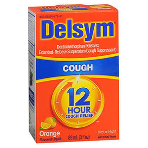 Delsym Adult 12 Hour Cough Relief Orange 3 oz by Airborne (2587424129109)