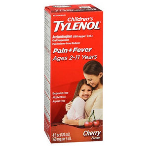 Tylenol Childrens Oral Suspension Cherry Blast 4 Oz by Johnson & Johnson (2587424358485)