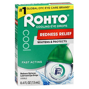 Rohto Cool Redness Relief Eye Drops 0.43 oz by Mentholatum (2587424424021)