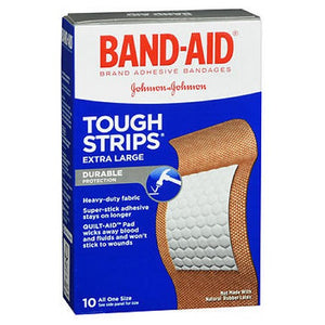 Band-Aid Tough-Strips Adhesive Bandages Extra Large All One Size 10 ct by Band-Aid (2587424587861)