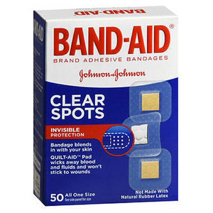Band-Aid Adhesive Bandages Clear Spots All One Size 50 each by Band-Aid (2587424850005)