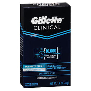 Gillette Clinical Strength Anti-Perspirant Deodorant Advanced Solid Fresh 1.7 oz by Gillette (2587426553941)