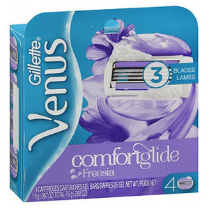 Gillette Venus Breeze 2 In 1 Cartridges With Shave Gel Bars 4 each by Gillette (2587427602517)