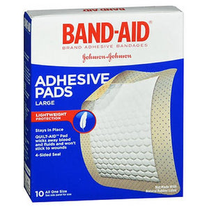 Johnson & Johnson Band-Aid Adhesive Pads Bandages Large 10 each by Johnson & Johnson (2587429830741)