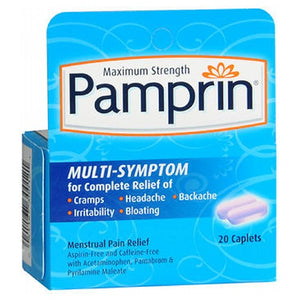Pamprin Multi-Symptom Pain Releif Caplets 20 each by Pamprin