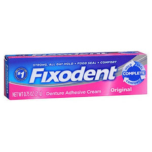 Fixodent Denture Adhesive Cream Original 0.75 Oz by Fixodent (2587431698517)