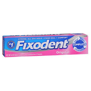 Fixodent Denture Adhesive Cream Original 2.4 Oz by Fixodent (2587431796821)