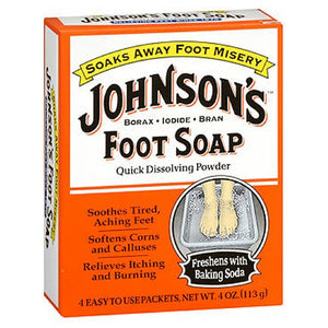 Johnsons Foot Soap Powder 4 each by Grecian