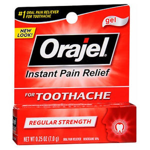 Orajel Regular Strength Toothache Pain Relief Gel 0.25 oz by Arm & Hammer