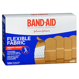 Band-Aid Flexible Fabric Adhesive Bandages All One Size 100 each by Band-Aid (2587434451029)
