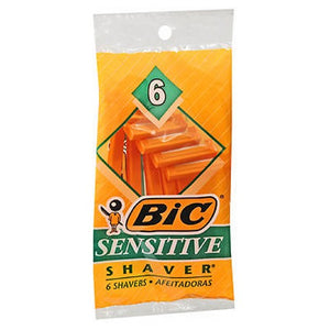 Bic Single Blade Shavers Sensitive Skin 6 each by Bic (2587436613717)