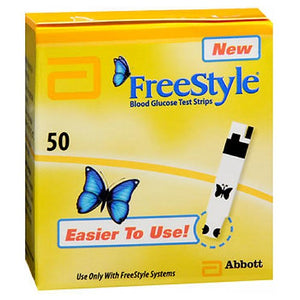 Freestyle Blood Glucose Test Strips 50 each by Freestyle (2587437924437)