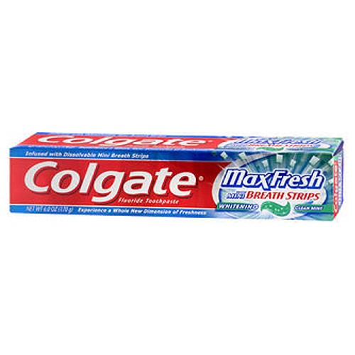 Colgate Max Fresh Whitening Toothpaste Clean Mint 6 oz by Colgate