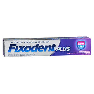 Fixodent Plus Denture Adhesive Cream Gum Care 2 Oz by Fixodent
