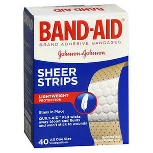 Band-Aid Comfort-Flex Adhesive Bandages Sheer Extra Large 40 each by Band-Aid (2587439956053)